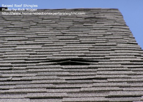 Builder Warranty Inspection - Raised Roof Shingles