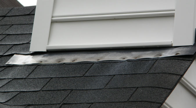 Raised flashing with nail heads that are not sealed by Rick Nipper near Raleigh, NC